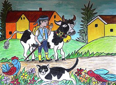 Country Cow Original by Monica Engeler