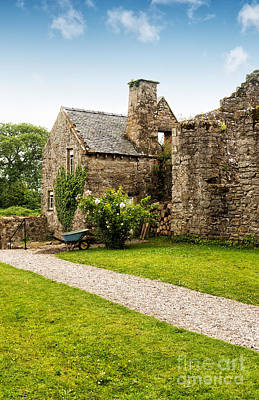 Stone Buildings Photograph - Country Garden by Amanda Elwell