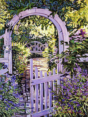 Garden Gates Painting - Country Garden Gate by David Lloyd Glover