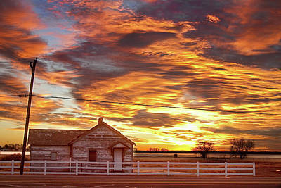Country House Sunset Longmont Colorado Boulder County Print by James BO  Insogna