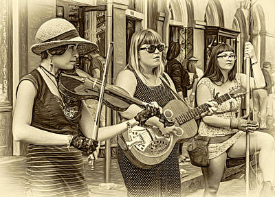 Country In The French Quarter 3 Sepia Print by Steve Harrington