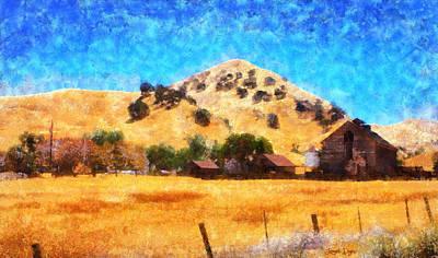 Valley Digital Art - Country Lifestyle - Da by Leonardo Digenio