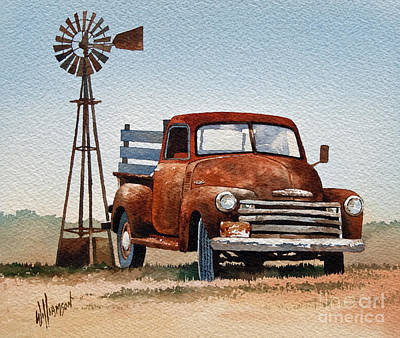 Old Trucks Painting - Country Memories by James Williamson