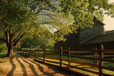 Country Morning - Holmdel Park Print by Angie Tirado