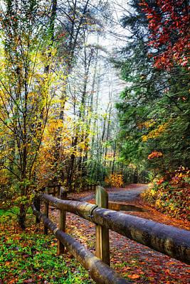 Smokey Mountain Drive Photograph - Country Rain by Debra and Dave Vanderlaan