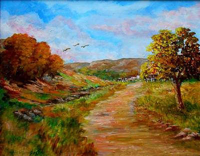 Country Road 2 Print by Constantinos Charalampopoulos