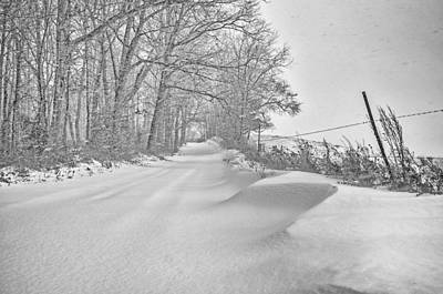 Country Road Blizzard  Print by Shara Lee