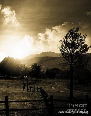 High Sierra Digital Art - Country Road  by Bobbee Rickard