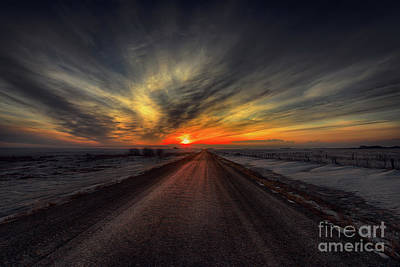 Grid Photograph - Country Road Dawn by Ian McGregor