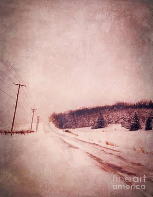 Country Road In Snow Print by Jill Battaglia