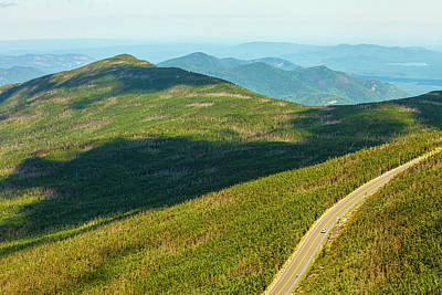 Country Road To My Home Whiteface Mountain New York Print by Paul Ge