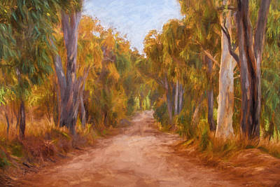 Pathway Digital Art - Country Roads 2  Impressionism Art by Michelle Wrighton