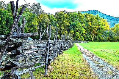 Smokey Mountain Drive Photograph - Country Roads by James Fowler