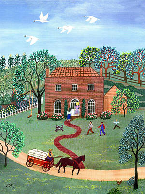 Country Visit Print by Linda Mears