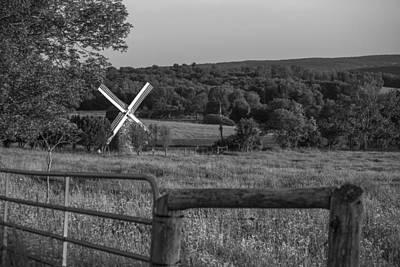 Country Windmill Print by Karol Livote