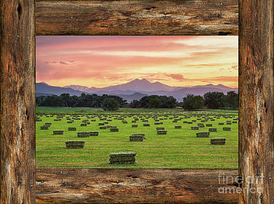 Agriculture Photograph -  County Barn Wood Window View by James BO Insogna