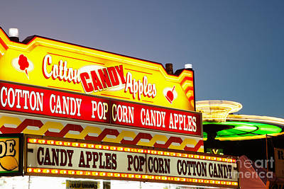 Cotton Candy Photograph - County Fair Concession Stand Food Sign by Paul Velgos