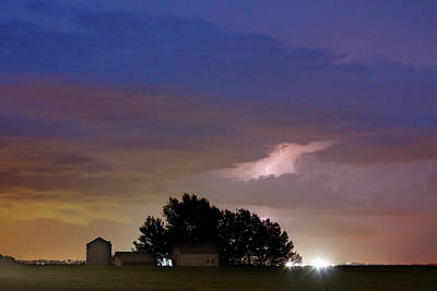 County Line 1 Northern Colorado Lightning Storm Print by James BO  Insogna