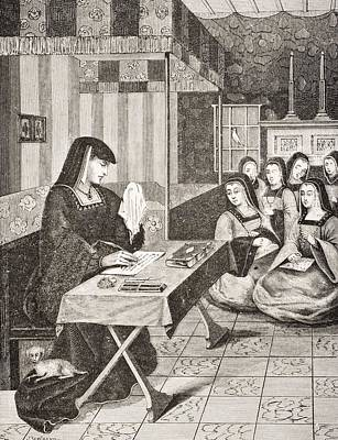 Crying Drawing - Court Of The Ladies Of Queen Anne Of by Vintage Design Pics