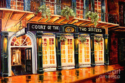 Court Of The Two Sisters Print by Diane Millsap
