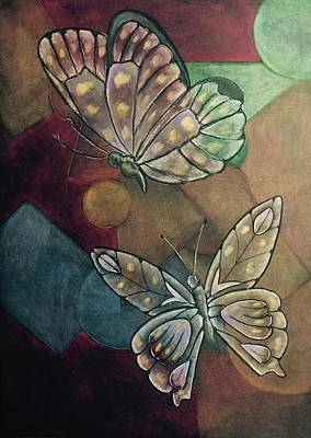 Pastels Drawing - Courtship by Laurie Cairone