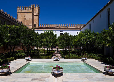 Courtyard In The Castle, Alcazar De Los Print by Panoramic Images