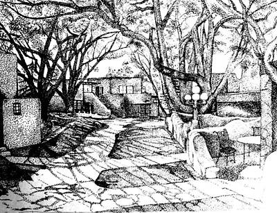 Courtyard Print by Randall Easterling