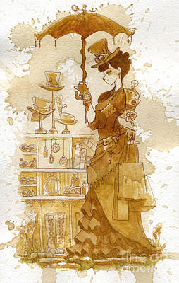 Steampunk Painting - Couture by Brian Kesinger
