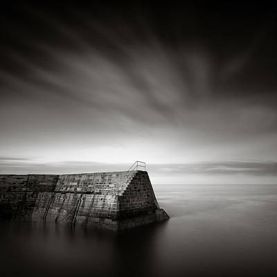 Cove Breakwater Print by Dave Bowman