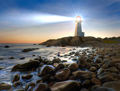 Realist Painting - Cove Light by James Charles