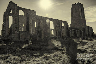 Graveyard Mixed Media - Covehithe Abbey by Svetlana Sewell