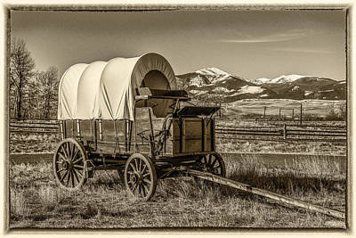 Cattle Drive Photograph - Covered Wagon by Paul Freidlund