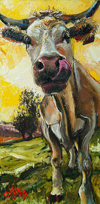 Cow 1 Print by Claire Kayser