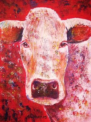 Cyprus Painting - Cow by Anastasis  Anastasi