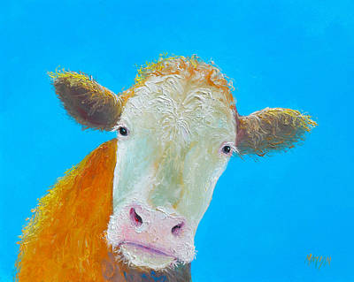 Cow Painting - Cow Art For The Kitchen by Jan Matson