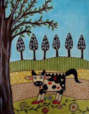 Rain Ririn Painting - Cow Bell by Rain Ririn