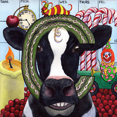 Candy Painting - Cow by Catherine G McElroy