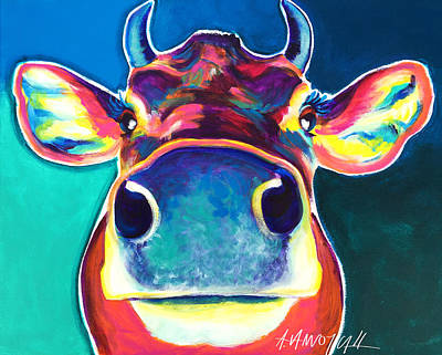 Cow - Fawn Print by Alicia VanNoy Call