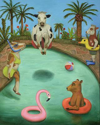 Summer Fun Painting - Cowabunga by Leah Saulnier The Painting Maniac
