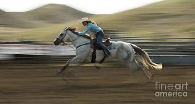 Barrel Racing Photograph - Cowboy Art 11 by Bob Christopher