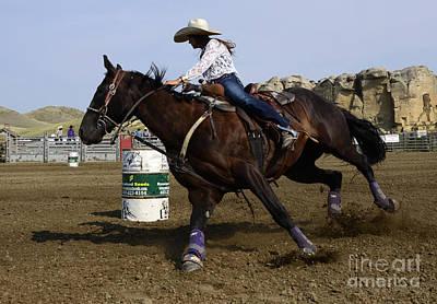 Barrel Racing Photograph - Cowboy Art 17 by Bob Christopher