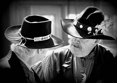 Concho Photograph - Cowboy Chat by Gayle Johnson