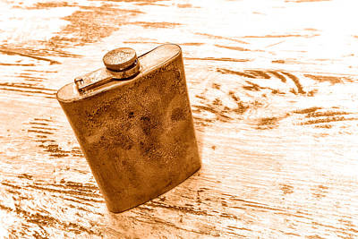 Cowboy Energy Drink - Sepia Print by Olivier Le Queinec