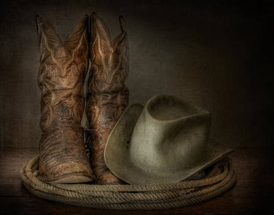 Cowboy Hat Photograph - Cowboy Gear by David and Carol Kelly