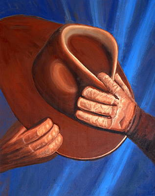 Cowboy Hat And Gloves Original by Ted Hess