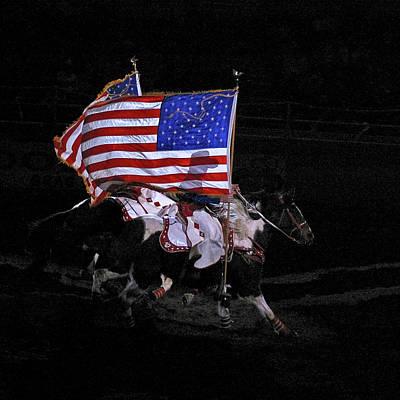 Cowboy Patriots Print by Ron White