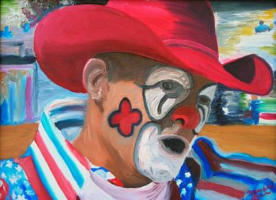 Rodeo Clown Painting - Cowboys Angel by Michael Lee