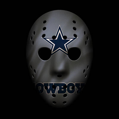 Cowboys War Mask 2 Print by Joe Hamilton
