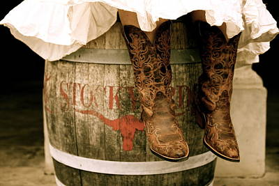 Cowgirl Photograph - Cowgirl Boots by Snow White