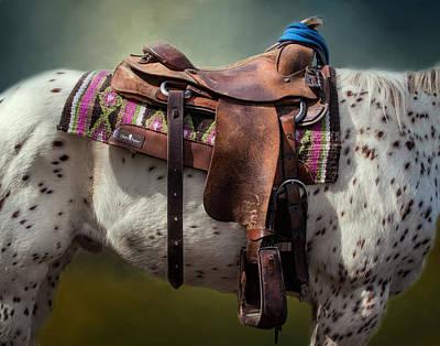 Barrel Racing Photograph - Cowgirl Saddle by David and Carol Kelly